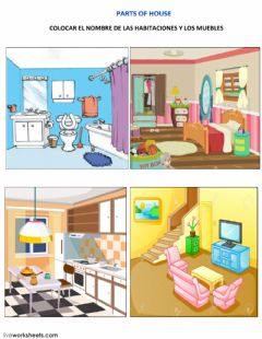 Interactive worksheet PARTS OF HOUSE