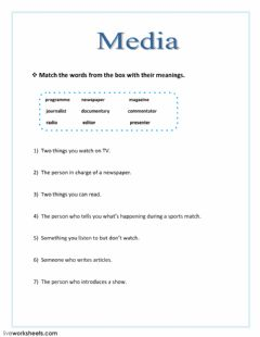 Interactive worksheet Media