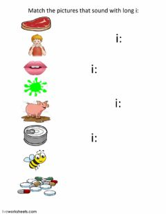 Interactive worksheet Match the picture with the Long i: sound