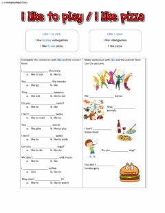 Interactive worksheet Like-noun - like-verb