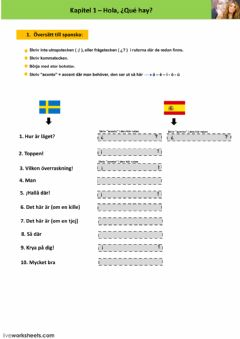 Interactive worksheet Kapitel 1 - läxa