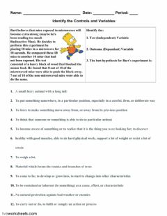 Interactive worksheet Identify the Controls and Variables-1