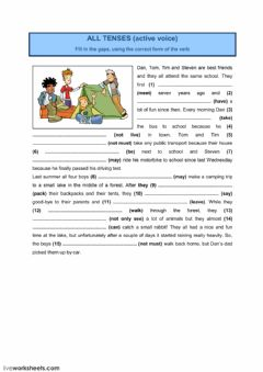 Interactive worksheet All tenses 7 (active voice)