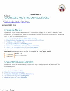 Interactive worksheet Countable and Uncountable FM