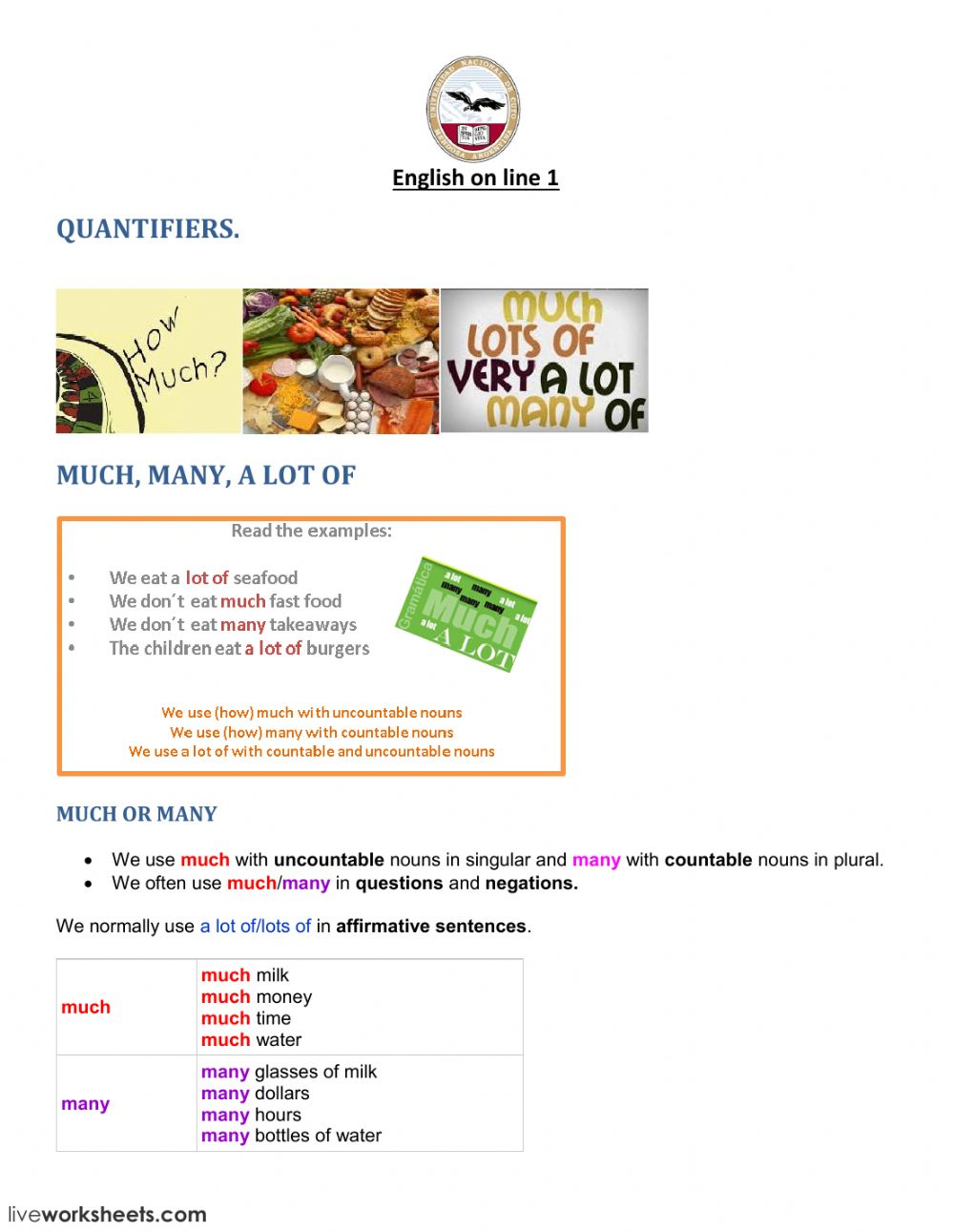 Quantifiers FM - Interactive worksheet on wedding guest list worksheets, i and me worksheets, preschool phonological awareness worksheets, some any worksheets, skip counting worksheets, double negatives worksheets, have has worksheets, preschool community helpers worksheets, was were worksheets, can and may worksheets,