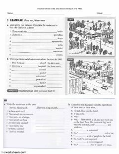 Past BE and Exitential Past worksheet preview