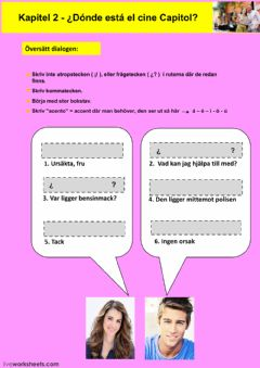 Interactive worksheet Kapitel 2 - uppgift 4 - åk 8
