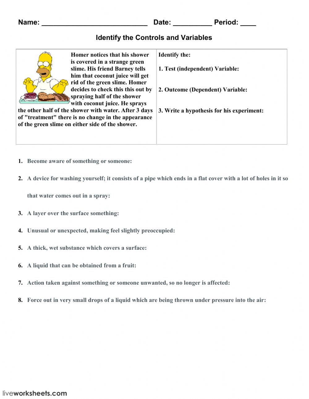 Independent And Dependent Variables 2 Interactive Worksheet