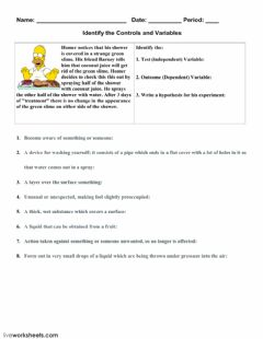 Interactive worksheet Independent and Dependent Variables-2