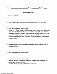 Interactive worksheet Comparing Solids