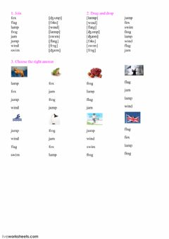 Interactive worksheet Reading 7,8