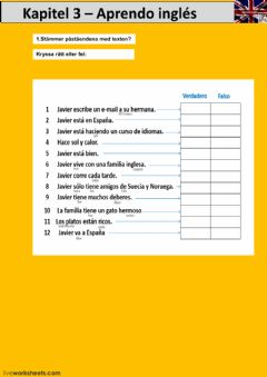 Interactive worksheet Kapitel 3 - uppgift 1 - åk 8