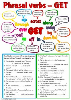 Ficha interactiva Phrasal verbs with GET