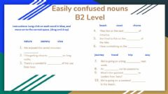 Interactive worksheet Easily Confused Words
