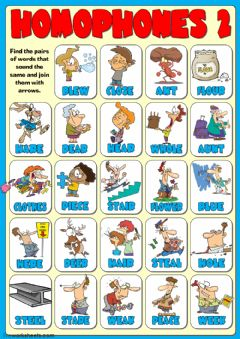 Interactive worksheet Homophones 2