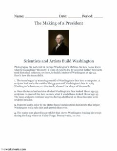 Interactive worksheet The Making of a President
