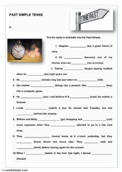 Interactive worksheet Past Simple Tense