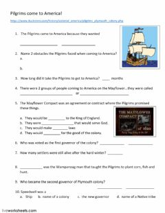 Interactive worksheet Coming to America