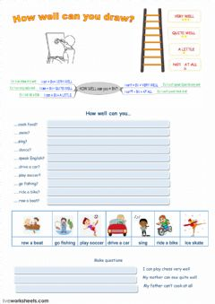 Interactive worksheet How well can you?