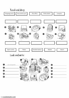 Interactive worksheet Town-1