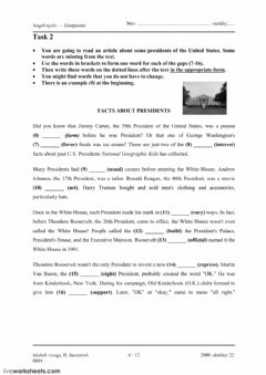 Interactive worksheet Matura Exam, Oct 2009