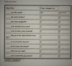 Interactive worksheet Write do or does.