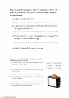 Interactive worksheet Energy