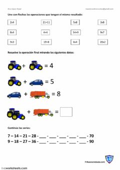 Interactive worksheet Matemáticas
