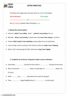 Interactive worksheet Past Review