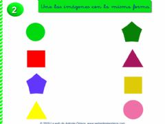 Interactive worksheet Une las formas