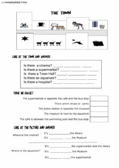 Interactive worksheet The Town