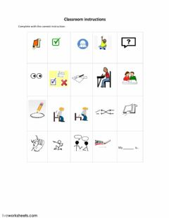 Ficha interactiva Classroom Instructions
