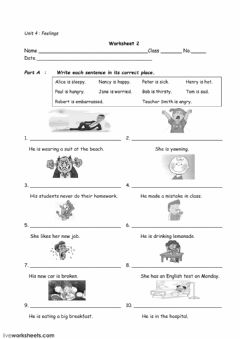 Interactive worksheet Feelings