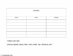 Interactive worksheet Glagoli