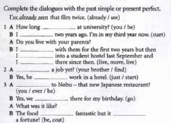 Ficha interactiva Present Perfect and Past Simple