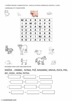 Interactive worksheet Abeceda