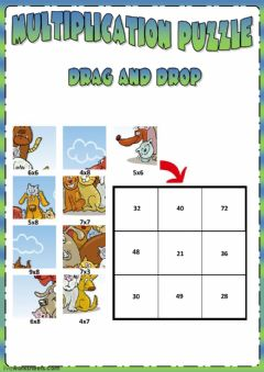 Interactive worksheet Multiplication puzzle