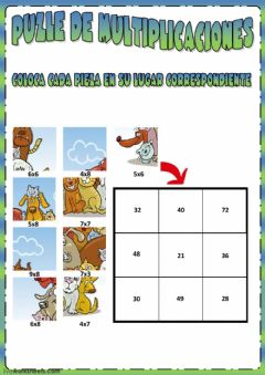 Interactive worksheet Puzle de multiplicaciones
