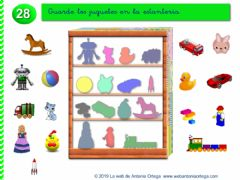 Interactive worksheet Coloca cada juguete en su lugar.