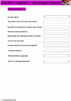 Interactive worksheet Kapitel 5 - uppgift 5 - åk 9
