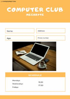 Interactive worksheet Membership card