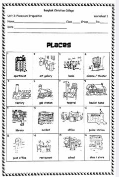places in the city interactive worksheets. Black Bedroom Furniture Sets. Home Design Ideas