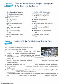 Interactive worksheet Partizip