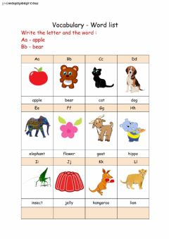 Interactive worksheet Picture Alphabet