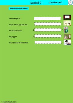 Interactive worksheet Kapitel 9 - uppgift 3 - åk 7
