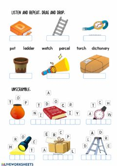 Interactive worksheet Furniture-5