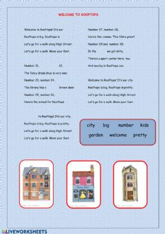Interactive worksheet Welcome to Rooftops