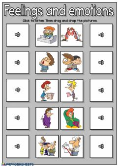 Interactive worksheet Feelings and emotions - listening