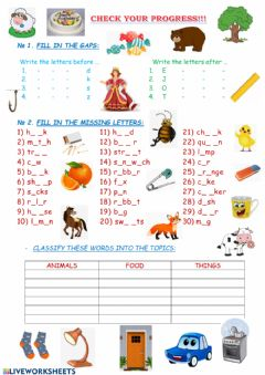 Ficha interactiva Vocabulary revision
