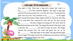 Interactive worksheet Fairy tales